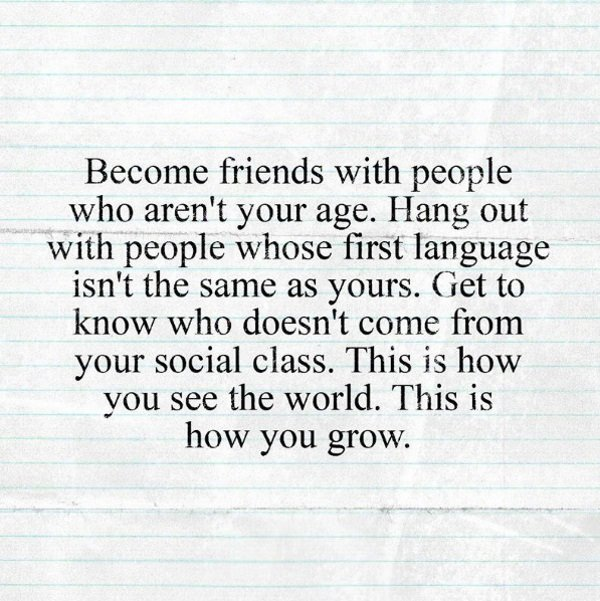 Become friends with people.